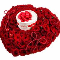 Сердце 101 красная роза R98