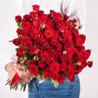 Букет 31 красная кустовая роза R484
